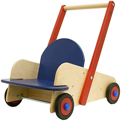 41BpDDzUL4L. AC - HABA Walker Wagon - First Push Toy With Seat & Storage For 10 Months And Up