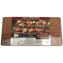 Nature's Cuisine NC004-4 14-Inch x 7-Inch Cedar Grilling Planks, 4 per pack  (Wood)