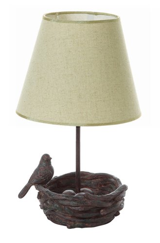 16u0026quot;H Bird On A Nest Resin   Decorative Table Lamp