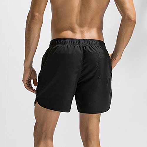 Solide Shorts Plus Maillots Noir Pantalons Troncs Plage Malloom Respirant De Bain Hommes Taille 48rx4aSwq