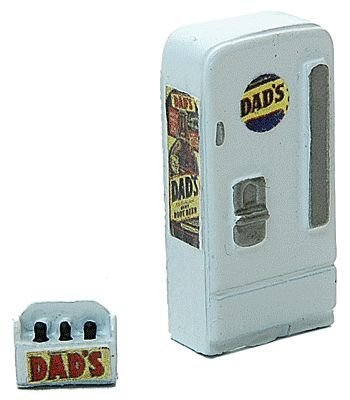 - HO Scale Upright Soda Machine w/Case -- Dad's Root Beer