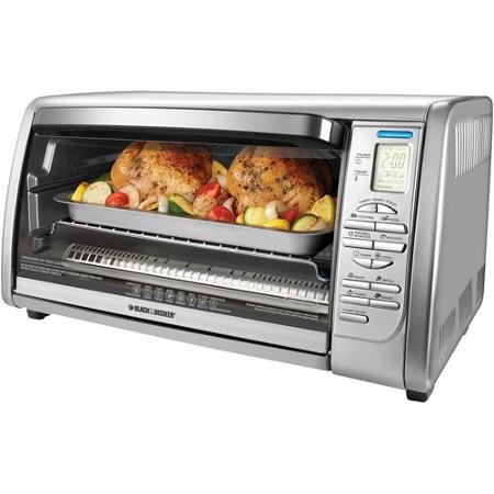 Black & Decker 6-Slice Digital Stainless Steel Convection Toaster Oven, Silver (Black And Decker Oven Parts compare prices)