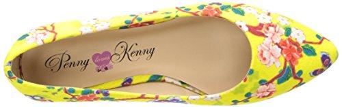 Penny Loves Kenny Womens Aaron Sf Balletto Piatto Floreale Giallo