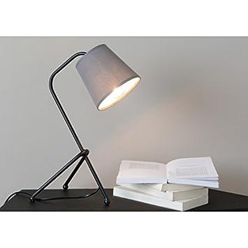 Lámpara mesa tres patas negras con tulipa.: Amazon.es: Hogar