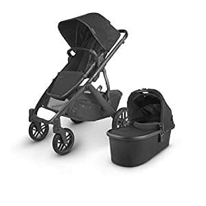 UPPAbaby-Vista-V2-Stroller-Jake-BlackCarbonBlack-Leather-Piggyback-for-Vista-Vista-V2