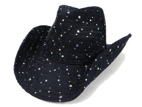 - Glitter Sparkle Western Hats / Black