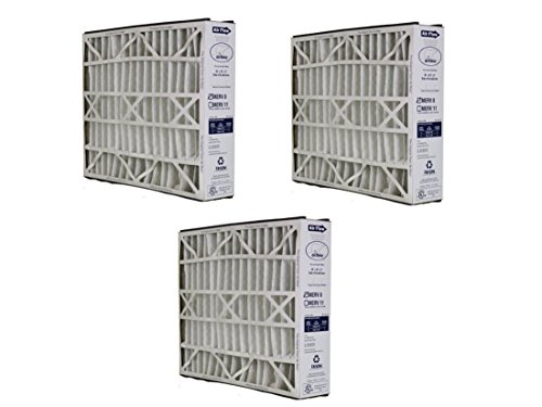 3 Pack Trion Air Bear 255649-101 Supreme Air Bear Replacement MERV 8 Media Filter 25 Inches x 16 Inches x 3 Inches