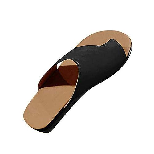 Zapatos Sandalias de Mujer Cómodos Plataforma, Sandalias Chanclas Verano Zapatos de Punta Abierta con Corrección
