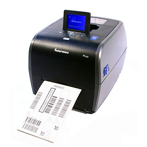 (Intermec PC43T Thermal Desktop Label Printer LCD Display W/ Real Time Clock USB Network 203DPI 128MB, PC43TA0010020 (Renewed))