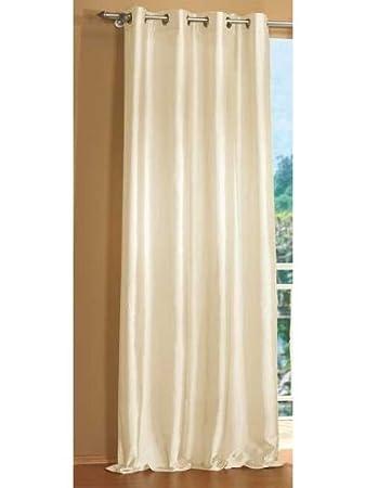 Vorhang Blickdicht Lichtdurchlässig amazon de attraktiver ösen deko taft vorhang blickdicht und