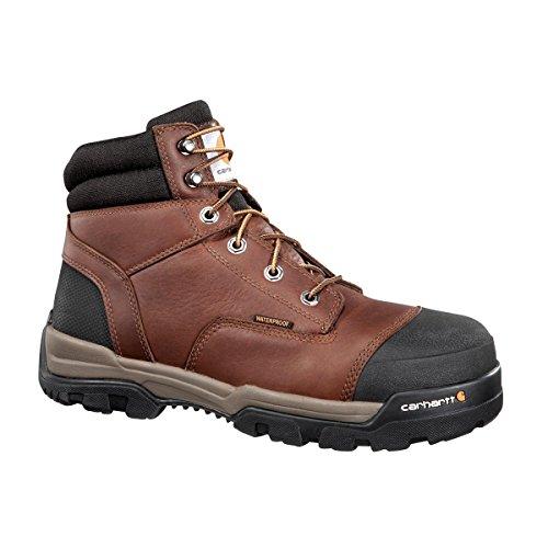 """Carhartt Men's Durable Comfort 6"""" Brown Waterproof Comp T..."""