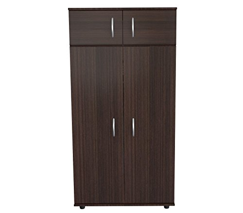 (Inval AM-2823 4-Door Armoire Wardrobe Espresso)