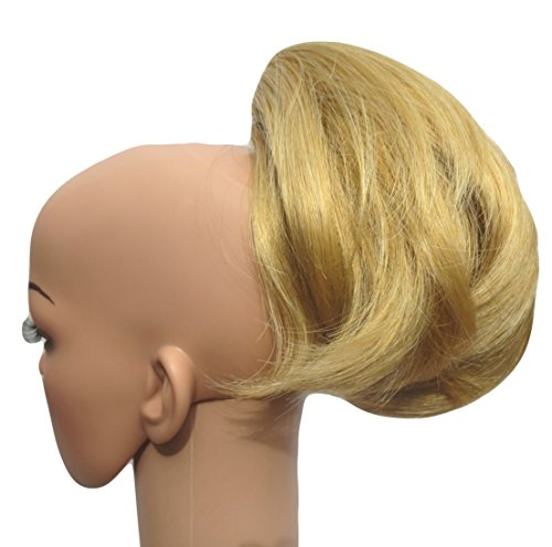 Short Pony Rabbits Tail 'Tuft' Clip in Hair Extension (16 Golden Blonde) [Misc.] Synthetic ()