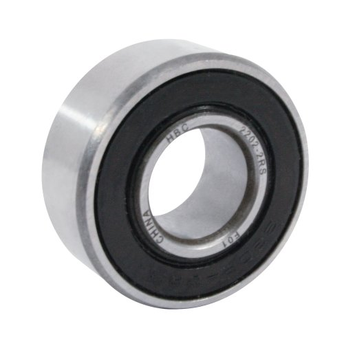 WJB 2202-2RS Self Aligning Ball Bearing, ABEC-1, Double Sealed, Steel, Metric, 15mm Bore Diameter, 35mm Outer Diameter, 14mm Width, 11500 rpm, 415 lbs Static Load Capacity, 1780 lbs Dynamic Load Capacity