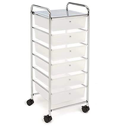 Ordinaire Craft Storage Cart With Drawers U0026 Wheels   Bundle W Multiple Compartments  Organizer Case (6