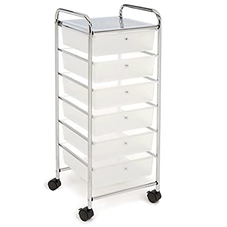 High Quality Craft Storage Cart With Drawers U0026 Wheels   Bundle W Multiple Compartments  Organizer Case (6