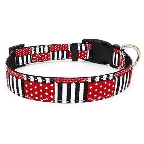(CARFILNL Pendant Pet Cat Collar Microfiber Dog Adjustable Collar Cat Puppy Necklace Accessories Pet Product Leash and Harnesses A14 Black S)