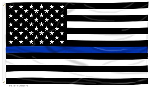 Thin Blue Line American Flag - 3 x 5 ft with Grommets
