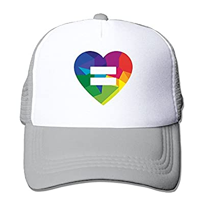 Love Wins Men's Adjustable Mesh Snapback Cap Hat
