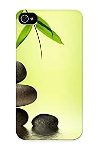 Podiumjiwrp Durable Defender Case For Iphone 4/4s Tpu Cover(bamboo And Zen Stones ) Best Gift Choice