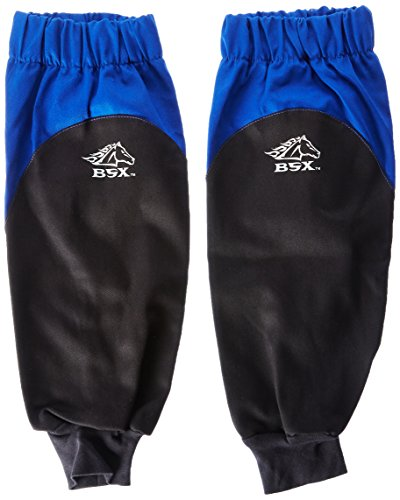 (Revco BX9-19S-RB BSX Reinforced Fire Resistant Sleeves, Royal Blue/Black (One Pair))