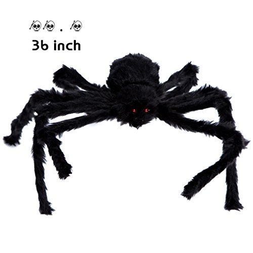 Giant Halloween Spider, Long Creepy Fake Realistic Spider Plush Spider Halloween Christmas Decoration Foldable Prank Jokes Toy Haunted House Prop Indoor Outdoor Yard Decor