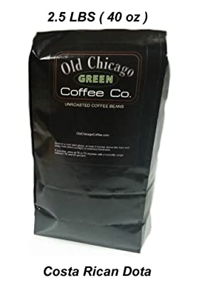 Costa Rican Dota Green Unroasted Coffee Beans - 2.5 LBS La Cumbre - Cup of Excellence Winner from Old Chicago Coffee Co.