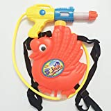 5billion Child Summer Beach Gaming Water Gun for Kids Outdoor Cartoon Shape Backpack Water Gun Beach Pull Type Play Toy