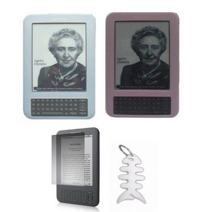 2-silicone-skin-cases-clear-and-pink-lcd-screen-protector-fishbone-style-keychain-for-amazon-kindle-