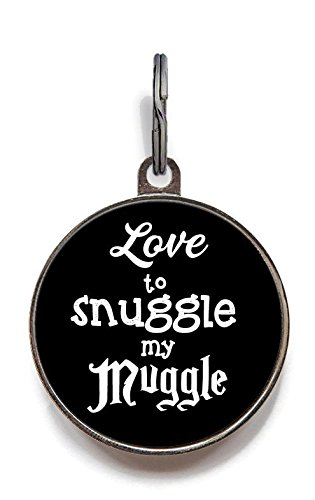 Image of Wag-A-Tude Tags Love to Snuggle My Muggle Pet Tag Custom Dog Tag Cat Tag (Large)