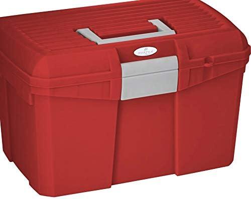 Reitsport Amesbichler Norton color rojo y gris Caja de limpieza para caballos