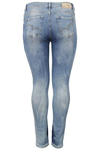 Donna Blue Mid Denim Frapp Jeans Uxq5ORU