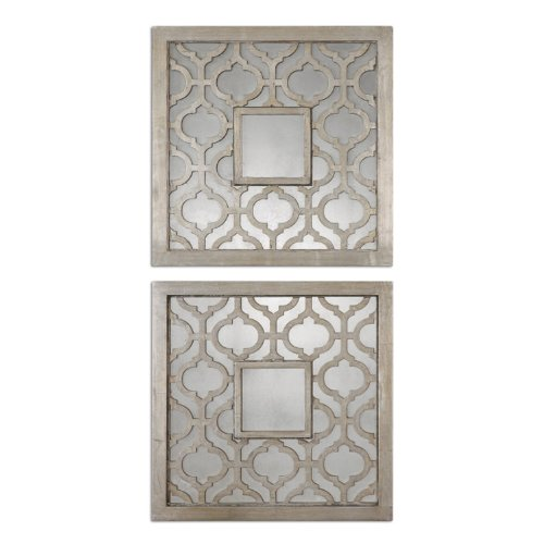 Uttermost Sorbolo Mirror Squares 0.75 x 20 x 20'' (Set of 2), Silver Leaf by Uttermost