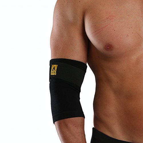 Agon Elbow Brace Compression Sleeve - Elastic Support for Tendonitis Pain, Tennis Elbow, Golfer's Elbow, Arthritis, Bursitis, Basketball, Baseball, Football, Golf, Lifting, Sports, Men Women (Medium)