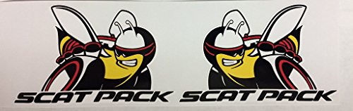 2 Dodge Mopar Scat Pack Super Bee Die Cut Decals by SBD - Scat Pack
