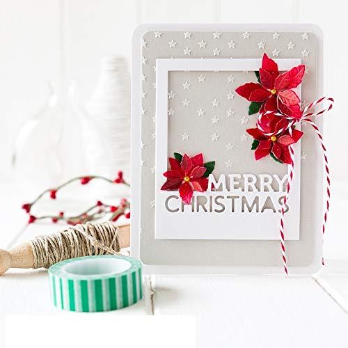 Dunnomart 9.5x7.6cm Merry Christmas Frame Carbon Cutting Die DIY Scrapbooking Embossing Template Folder Cut Blade Card -