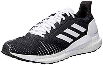 adidas Women's Solar Glide ST Running Shoes, Core Black/Core Black/Footwear White, 5 US