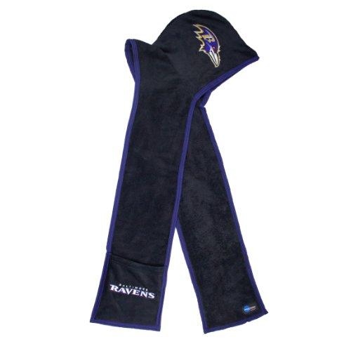 NFL Baltimore Ravens Ultra Fleece Hoodie Scarf