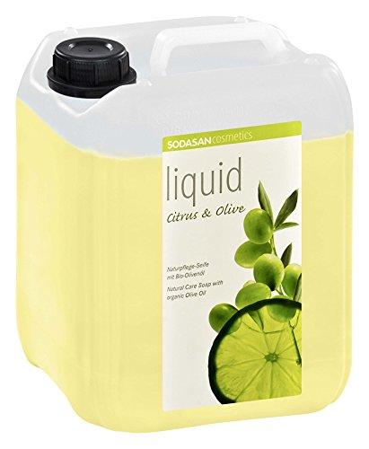 SODASAN LIQUID Citrus-Olive 5 Liter Kanister - ökologische Bio Seife flüssig