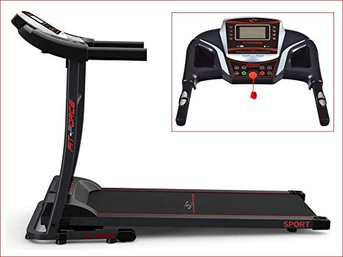 Fit-Force Cinta de Correr Plegable 1600W Velocidad hasta 15KM con Entrada de Mp3 y