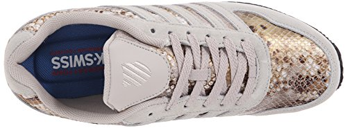 K-swiss Womens New Haven Cmf Athletic Shoe Rainy Day / Antique White / Snake