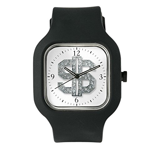 Black Fashion Sport Watch Bling Dollar Sign