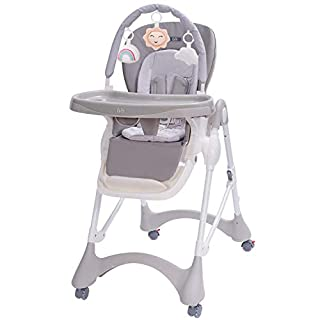 Baby High Chair, 3-in-1 High Chair with Double Removable Tray for Baby/Infants/Toddlers, Grows with Your Child   Adjustable Height   Modern Design   Easy to Assemble