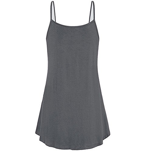 Plus Size Women Summer Vest, JOYFEEL  Ladies Sale Sexy Loose Button Tank Tops V Neck Cami T-Shirt Casual Tunic Tops Gray