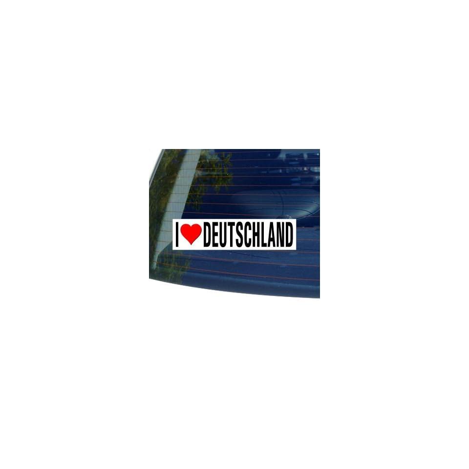 I Love Heart DEUTSCHLAND   Germany Window Bumper Sticker