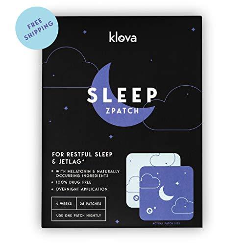 Klova Sleep Patch with Melatonin and Natural Ingredients Promotes restful Sleep and eliminates Jet lag ()
