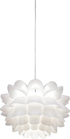 Possini Euro White Flower 19 1/2u0026quot; Wide Pendant Chandelier