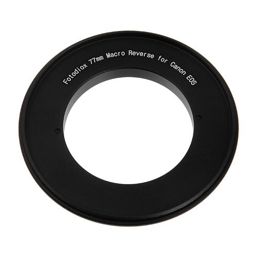 Fotodiox 77mm Macro Reverse Mount Adapter for using Canon EOS camera with 77mm filter thread lens