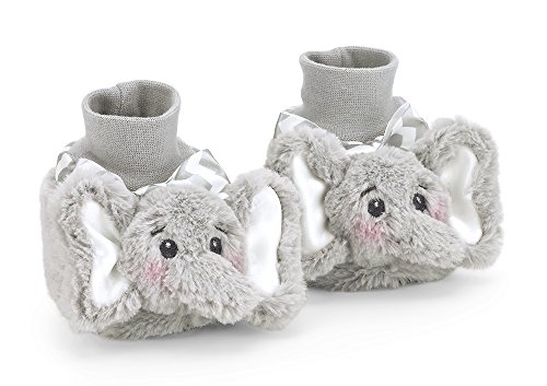 Bearington Baby Lil' Spout Plush Stuffed Animal Gray Elephant Sock Top Slipper Booties