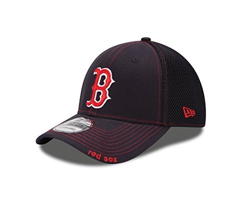 MLB Boston Red Sox Neo Fitted Baseball Cap, Navy, Medium/Large